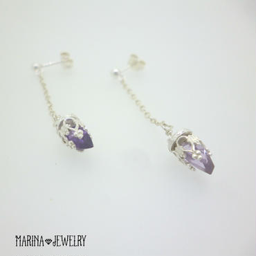 chandelier amethyst - silver -