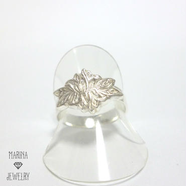 蓮の花のリング - silver-