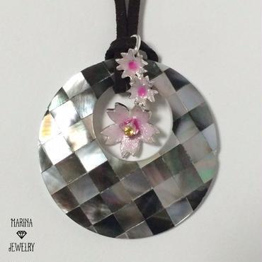 夜桜 -silver- 3wayネックレス