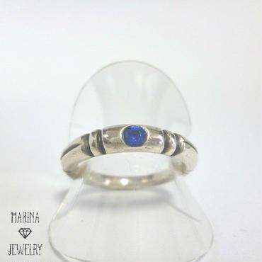 シルバーリング - ONE stone BLUE -
