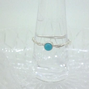 Turquoise Twisted Ring - ターコイズのリング -