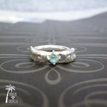 Angel Blueトパーズのリング - silver -
