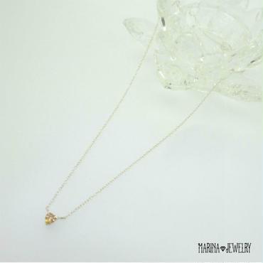 ちいさなハートのネックレス - silver -