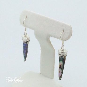 黒蝶貝のシャンデリアピアス - silver -