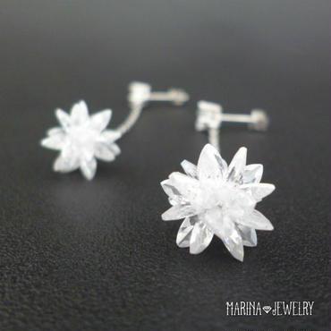 雪の華のピアス - crystal