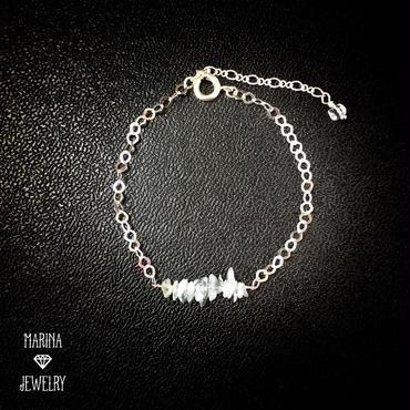 アクアマリンのSilver Bracelet