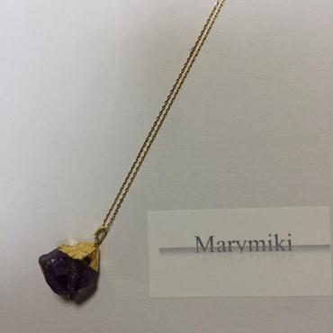 アメジスト 天然石一粒ネックレス