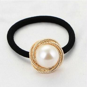 metal  pearl   hair accessory