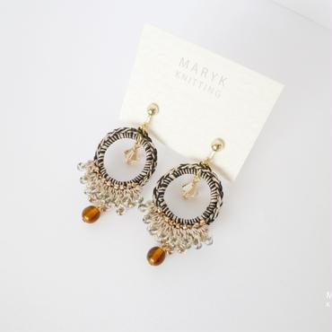 Frill! Beads! Foop!(city in autumn)イヤリング/ピアス *138 送料込