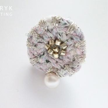 再販*銀糸のフチドリ イヤリング/ピアス *046