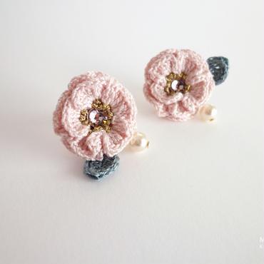 sale 07 Glitter Flower(薄桃色)ピアス