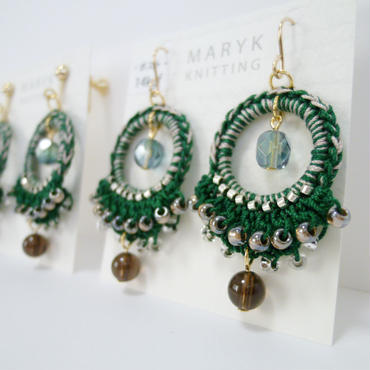 Frill! Beads! Foop!(Decorated trees)イヤリング/ピアス *152 送料込