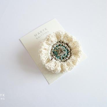 Frill Flower(M)ブローチ*179 送料込
