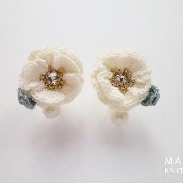 Glitter Flower(雪)ピアス/イヤリング *089