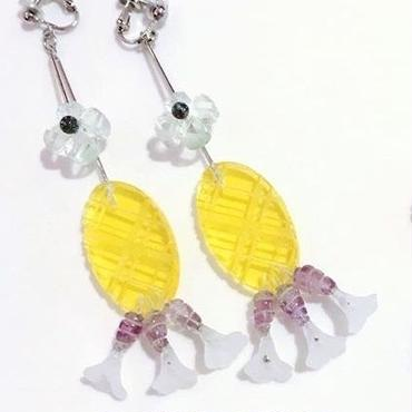flil flower yellow ピアス