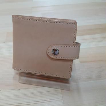 ヌメ革の折財布