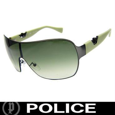 POLICE ポリス サングラス グリーングラデーション ガンメタ (92)