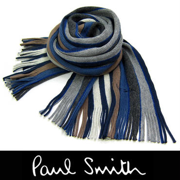 Paul Smith ポールスミス マフラー フリンジ  マルチストライプ (29)