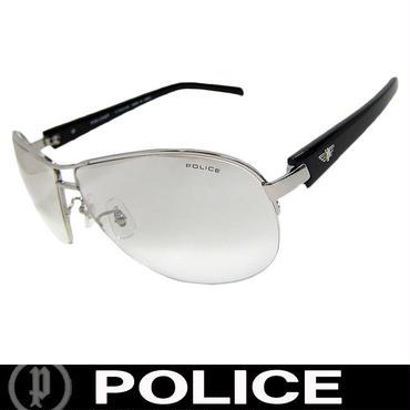 POLICE ポリス ミラー サングラス ティアドロップ S8690J 583X チタンフレーム 国内正規代理店商品