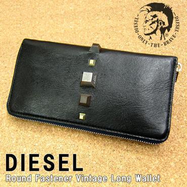 DIESEL ディーゼル ラウンドファスナー ヴィンテージ 長財布 X01584 T8013 黒