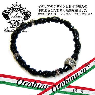 日本製 Orobianco オロビアンコ ブレスレット オニキス アクセサリー (417)