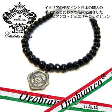 日本製 Orobianco オロビアンコ ブレスレット オニキス アクセサリー (422)