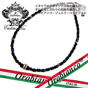 日本製 Orobianco オロビアンコ ネックレス オニキス アクセサリー (418)