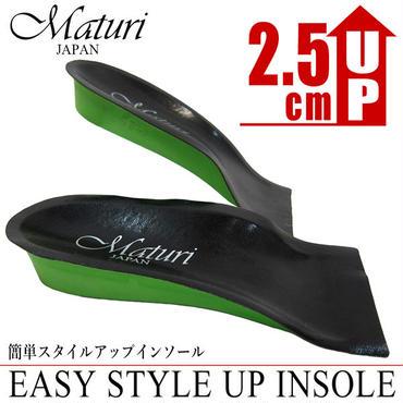 Maturi マトゥーリ 2.5cm インソール スタイルアップ 身長アップ ヒールアップ ハーフタイプ 中敷き MS-000 BK