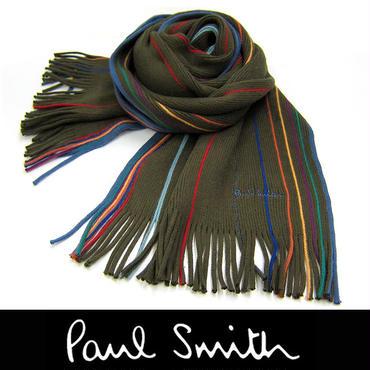Paul Smith ポールスミス マフラー フリンジ マルチストライプ (48)