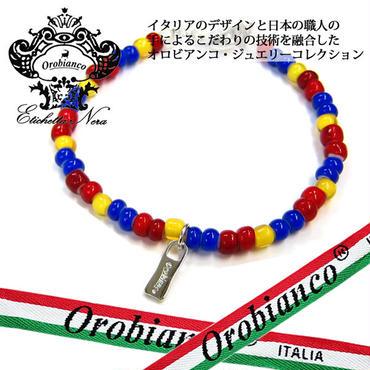日本製 Orobianco オロビアンコ ブレスレット ビーズ アクセサリー (384)