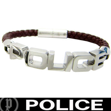 POLICE ポリス ロゴ レザーブレスレット SIGNATURE (28)