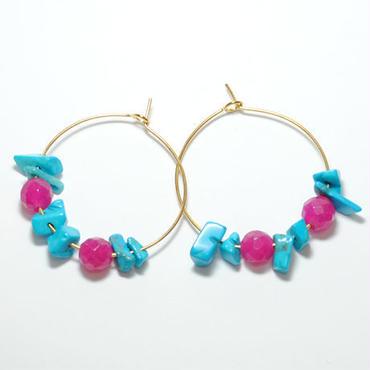 loop turquoise&pink