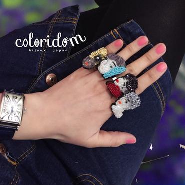 ポートレートリング  | ビーズリング hand made beads ring