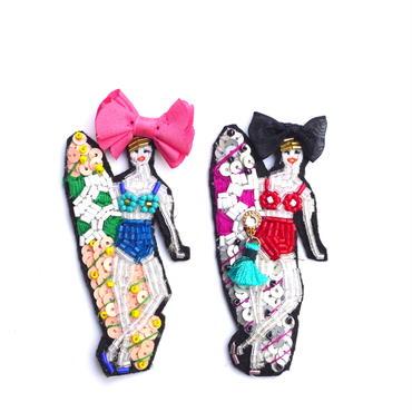 ミーナのお気に入り MINA | ビーズブローチ hand made beads brooch