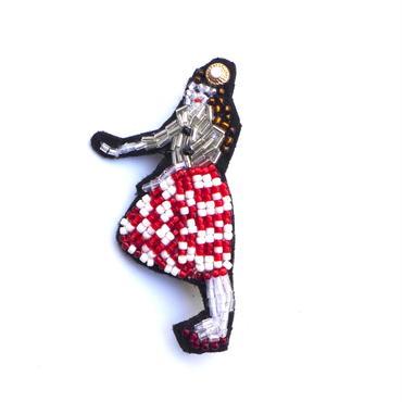 コーラガール a coke girl | ビーズブローチ hand made beads brooch