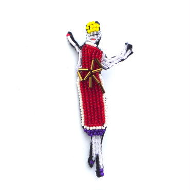ミセス・ガレー  | ビーズブローチ hand made beads brooch