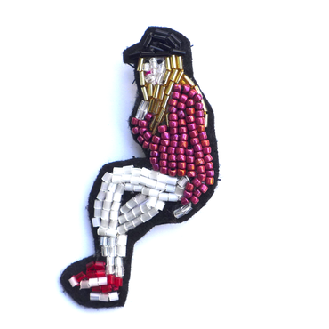 rock girl | ビーズブローチ hand made beads brooch