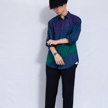 バイアスシルクシャツ