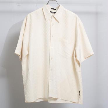 織柄ビッグシャツ