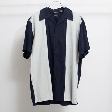 切替オープンカラーシャツ