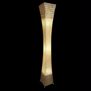 シェルフロアタワーランプ 150cm Cracking Gold/White/Gold