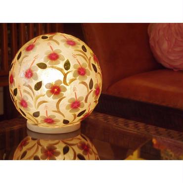 シェルボールランプ Ф30cm 《 Oriental Flower オリエンタルフラワー 》( テーブル / シーリング )