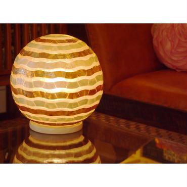シェルボールランプ  Ф22cm 《 Wave White×Gold ウェーブ ホワイト×ゴールド 》( テーブル / シーリング )