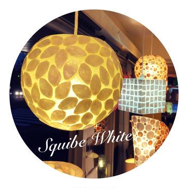 シェルボールランプ  Ф22cm《 Squibe White スクイブ  ホワイト 》( テーブル / シーリング )