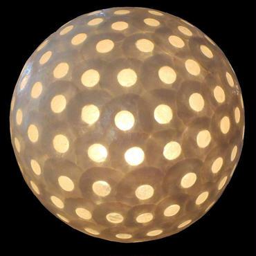 シェルボールランプΦ30cm Moon White