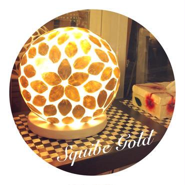 シェルボールランプ Ф22cm 《 Squibe Gold スクイブ ゴールド  》( テーブル / シーリング )