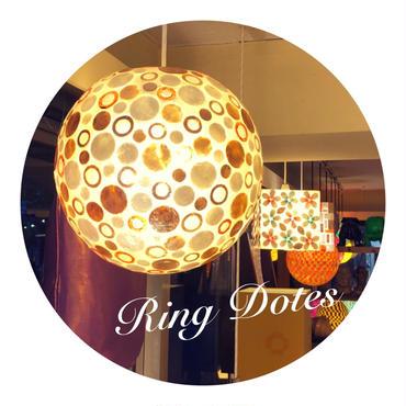シェルボールランプ Ф22cm 《 Ring Dotes リングドット 》( テーブル / シーリング )