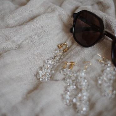 clear bubble pierce/earring