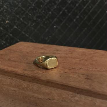 new【受注販売4月下旬発送】square stone ring
