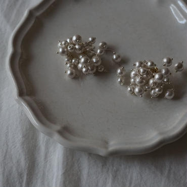 【即納】cotton pearl air pierce